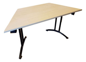 Beech Collapsible Trapezium Shaped Table (25A-2D5-D8A)