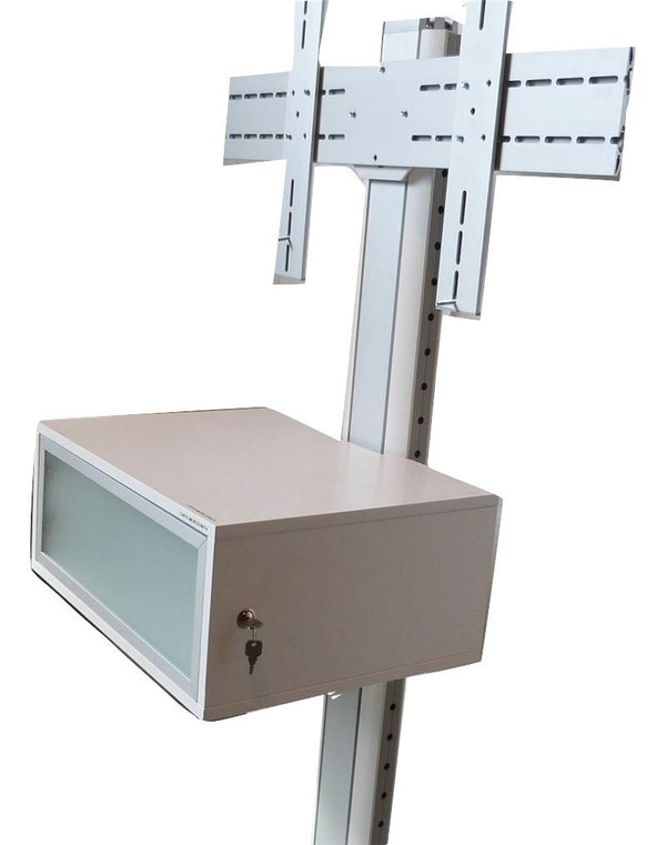 White Mobile Monitor Stand (202-ACE-BB6)