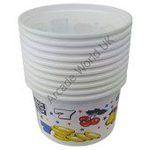 Coin/Party Cups – 300cc (Small) Bars & 7's Design - Pack of 10