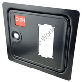Black Coin Door With Cut Out