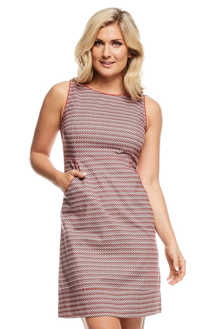 Alana Dress - Tic Tac Red