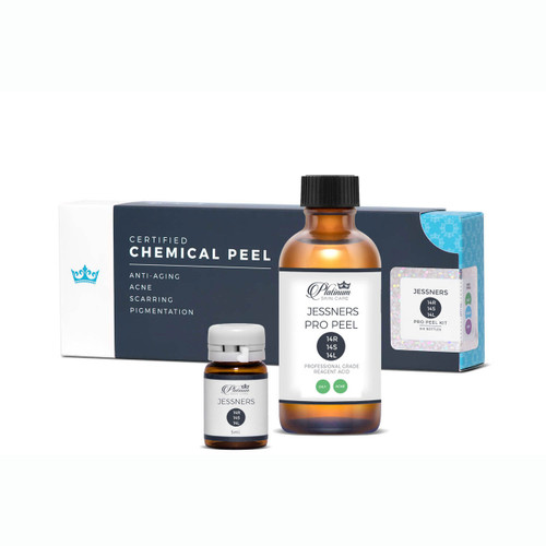 Jessners *Traditional 14 14 14 peel. Resorcinol, lactic, salicylic. Professional Certified peel.