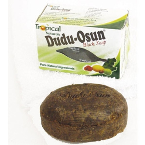 Dudu-Osun. Black soap. Excellent for back acne.