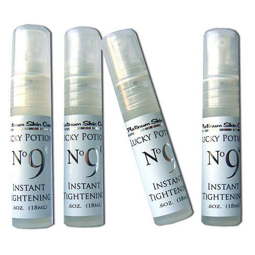 Lucky Potion #9. Instant skin tightening for ageless skin. Smooth texture. Just like a face lift in a bottle.
