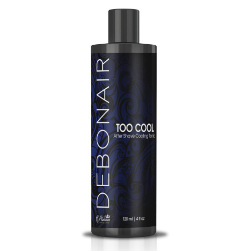 Too Cool After Shave cooling tonic with witch hazel for low irritation after shaving.  Balance pH and soothe any irritations (cuts, nicks, ...) with a little splash.   Witch hazel Castor oil Menthol Aloe leaf Eucalyptus Tasmanian blue gum oil Barley extract - proteins, vitamins and healing.