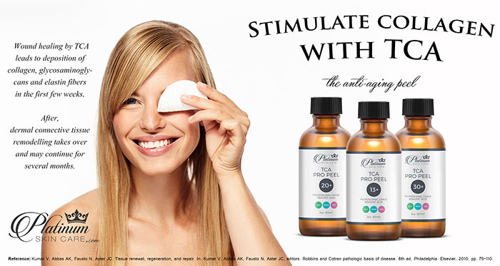 Stimulate collagen with TCA acid peels.