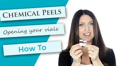 How to open your peel vials