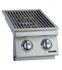 Bull double side burner lid open