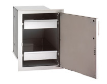 Fire Magic Select Single Door with Dual Drawers