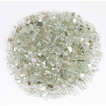 "American Fireglass 1/4"" Platinum reflective Fire Glass 10lbs"