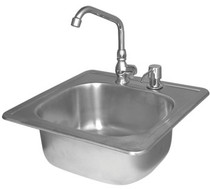 Cal Flame Stainless Steel Sink w/ Faucet & Soap Dispenser