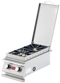 Cal Flame Deluxe Double Built-In Gas Side Burner - BBQ14899P