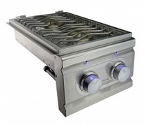 RCS Stainless Double Side Burner with LED Lights - Slide-In - RDB1EL