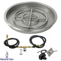 "American Fireglass 25"" Round drop-in Pan Spark Ignition- NG"