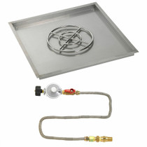 "American Fireglass 36"" Square Drop-In Pan with Match Lite Kit"