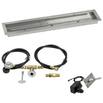 "American Fireglass 36""x6"" Linear Drop-In Pan w/ Spark Ignition Kit"