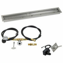 "American Fireglass 48""x6"" Linear Drop-In Pan w/ Spark Ignition Kit"