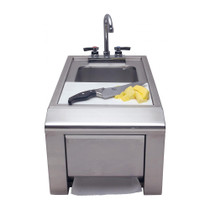 Alfresco 14-Inch Prep And Hand Wash Sink With Towel Dispenser -ASK-T