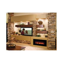 Modern Flames Builder Series Fantastic Flame 43 Inch No Heat Electric Fireplace On/Off Only - FF43/BILV