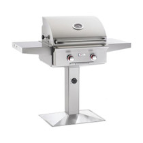 AOG 24-Inch T-Series 2-Burner Freestanding Gas Grill on Pedestal