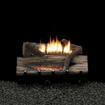 Empire Vent Free 18 Inch Whiskey River Gas Log Set With Basic On-Off Remote Ready