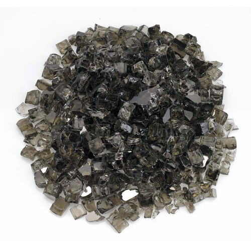 "American Fireglass 1/2"" Bronze Reflective Fire Glass 10lbs"