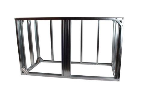 "DIY BBQ 5ft Straight Modular Frame Section 36"" Standard Height"