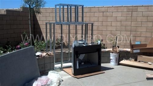 Diy Bbq Outdoor Fireplace Frame Kit