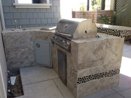 Bret Webster built this Amazing BBQ Island with BBQ Coach ...  |Barbeque Island Frame Kit