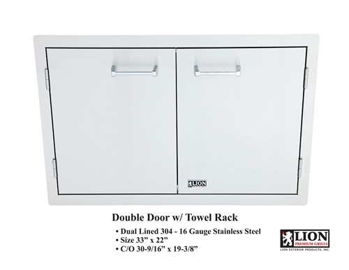 Lion Double Door with Towel Rack