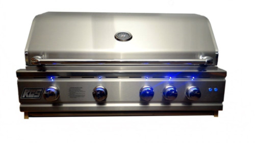 "RCS RON38a 38"" Cutlass Pro Series Grill, Blue LED with Rear Burner (RON38a)"