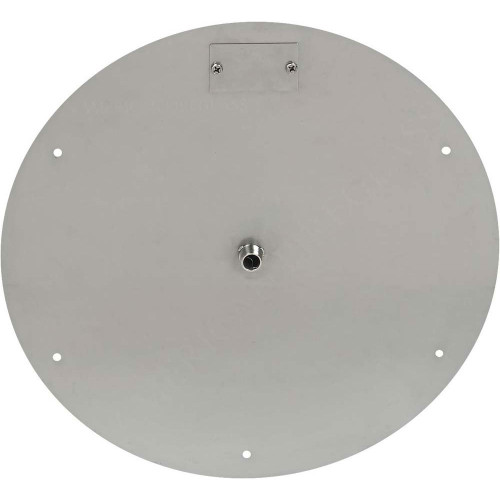 American Fireglass 18 Quot Round Stainless Steel Flat Pan 1 2