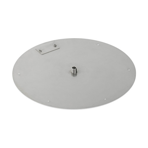 "American Fireglass 18"" Round Stainless Steel Flat Pan (1/2"" Nipple) Alt View 3"