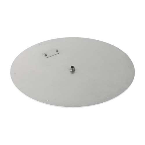 "American Fireglass 24"" Round Stainless Steel Flat Pan (1/2"" Nipple)"