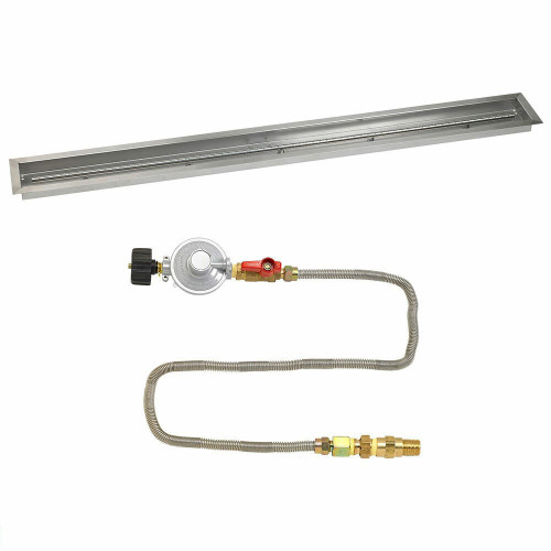 "American Fireglass 72""x 6"" Linear Drop-In Pan with Match Lite Kit - Propane"