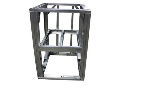 """DIY BBQ 2ft Open Shelf Modular Frame Section 36"""" Standard Height"""