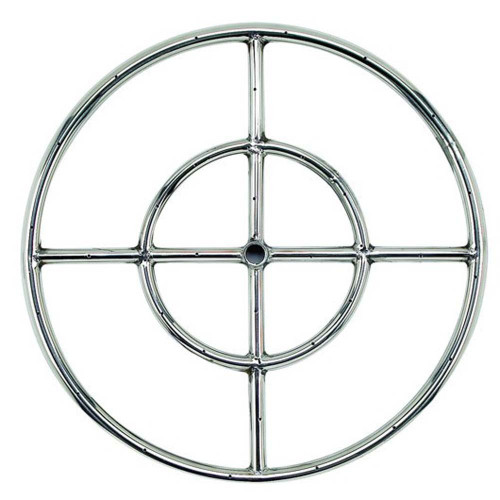 American Fireglass Stainless Steel Fire Pit Burner Ring
