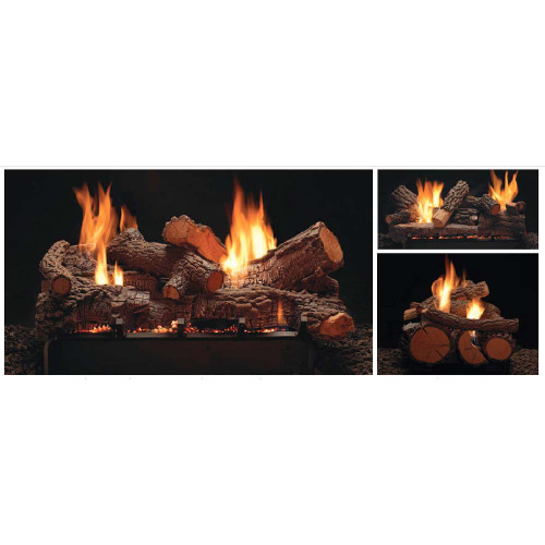 Empire Vent-Free Multi-Sided Slope Glaze Burners and Matching Log Sets