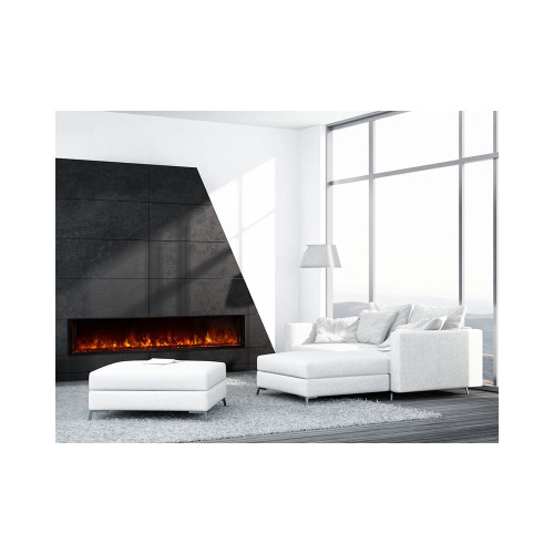 "Modern Flames  Landscape 80"" X 15"" Fullview Built In Electric Fireplace (Clean Face) LFV2-80/15-SH"