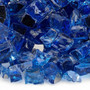 "American Fireglass 1/2"" Cobalt Blue reflective Fire Glass 10lbs Alt View 2"