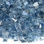 "American Fireglass 1/4"" Pacific Blue Reflective Fireglass 10lbs Alt View 2"