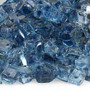 "American Fireglass 1/2"" Pacific Blue Reflective Fire Glass 10lbs Alt View 2"