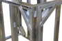 "DIY BBQ 2ft Straight Modular Frame Section 42"" Bar Height"