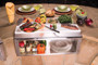 Alfresco Built-In 30-Inch Plate & Garnish Center with Food Pans-APS-30P