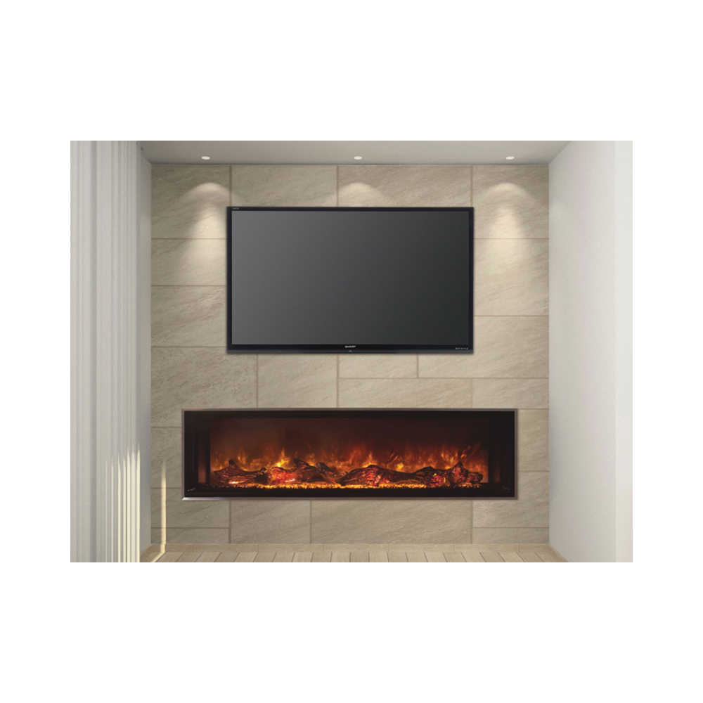 "Add charm and positive ambiance in your office or home with this Modern Flames Landscape 60"" X 15"" Fullview Built In Electric Fireplace (Clean Face) LFV2-60/15-SH available in variety of sizes from diybbq.com"