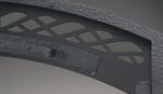 Hammered steel facade new