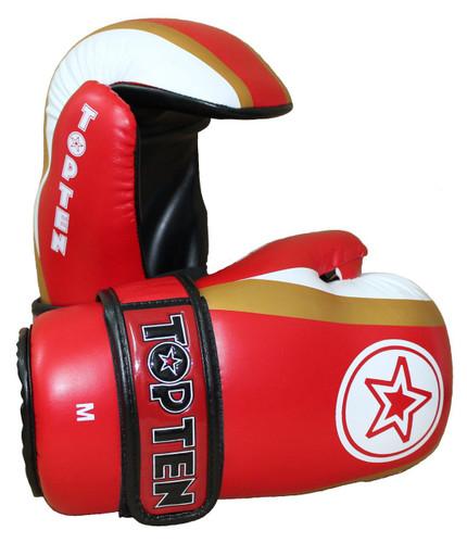 """TOP TEN Pointfighter Gloves """"Star & Stripes"""" Red (2181-4)"""