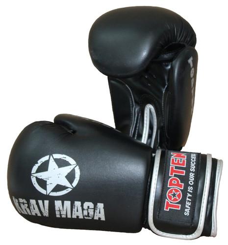 """TOP TEN Boxing / Sparring Gloves """"KRAV MAGA"""" 12oz (2566-9012)"""