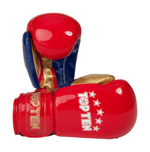 """TOP TEN Boxing Gloves """"Champion"""" Shiny Red 10oz (2278-4210)"""