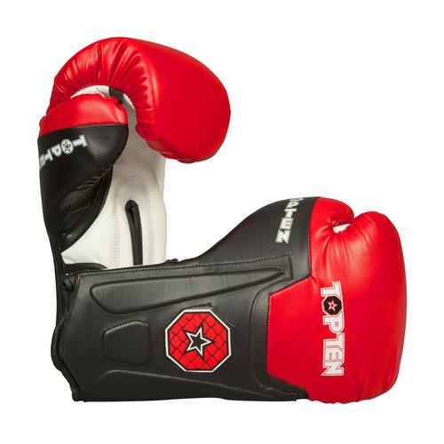 "TOP TEN Boxing/Sparring Gloves ""Line"" Black/Red (2262-94)"